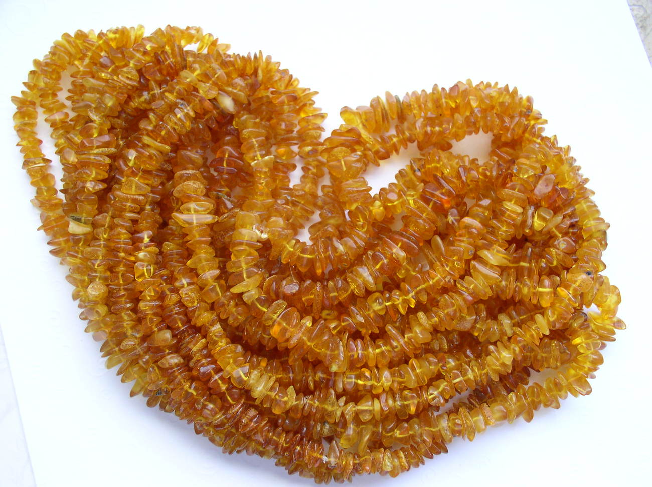 10 Honey Baltic Amber Bead Long Necklaces Strands Wholesale