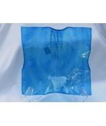 Slumped Glass Bowl, Streaky Blue, RKP58 - $40.00