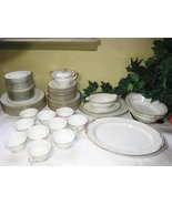 58 pc Noritake China Japan M Goldcroft Dinnerware Set 