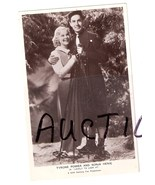 Tyrone Power and Sonja Henie Movie Stars Vintag... - $9.99