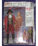 McCalls P397 Costume Pattern Peter Pan Capt Hoo... - $6.99
