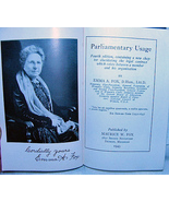 Parliamentary Usage by Emma Fox 1943 Signed HC ... - $12.99