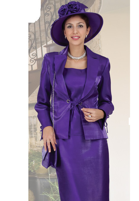 NWT Purple Formal Mother of Bride Suit Hat Availible