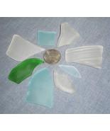 Tumbled Sea Beach Glass Lot C Clear Aqua Green ... - $5.00