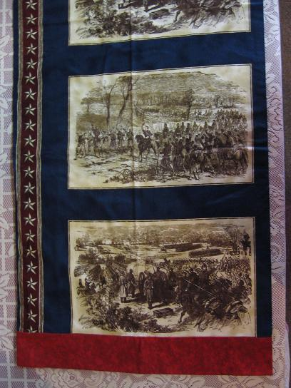 Pillowcase Civil War Scene standard queen homemade history