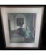 Old 1930's Leonard L. Campbell Taylor The Sampler Print - $95.00