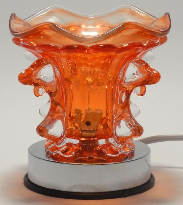 Orange Dolphin Electric Touch Lamp  Oil or Tart Warmer