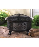 Iron Fire Pit with Screen Lid Cover Outdoor Yar... - $117.00