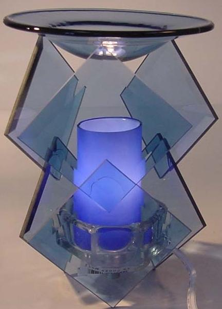 Image 1 of  Blue Electric Oil or Tart Warmer
