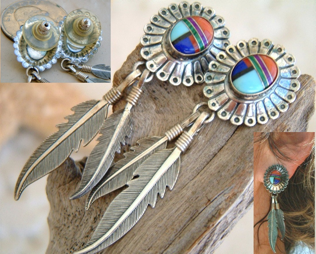 Stone_inlay_earrings_signed_feather_sterling_silver