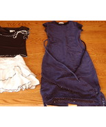 My Michelle Dress Young Girls 7 Navy Blue - $5.00