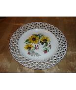 Porcelain handmade  Weave Lace Decorative Plate - $32.40