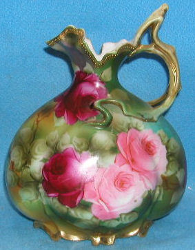 VINTAGE NIPPON ROSE PAINTED PITCHER