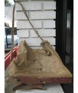 Antique Mechanical Hand Seed Spreader Canvas Ba... - $100.00
