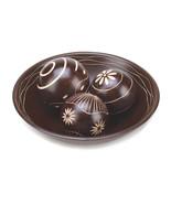 Wood Bowl Floral Carved Balls Centerpiece - $22.00