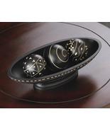 Black Wood Bowl Tray and 3 Balls Table Centerpi... - $22.00