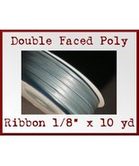 Light Blue Double Faced Poly Ribbon 1/8 x 10 yd - $1.48