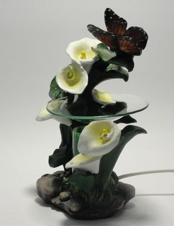 Butterfly's With Lily's Polyresin Electric Oil Warmer Dimmer