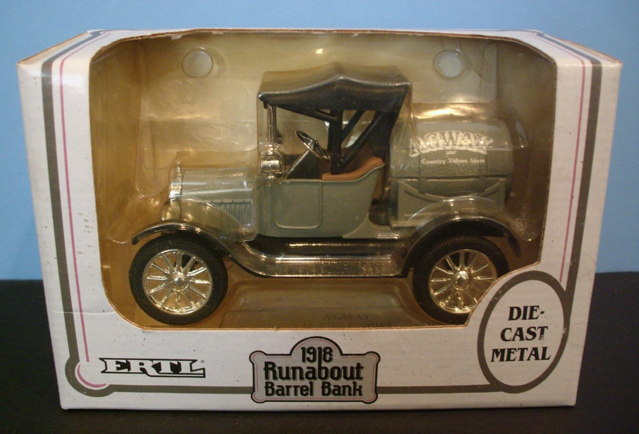 "MIB Ertl 1918 Ford Runabout Barrel Diecast Bank ""AGWAY"". Payment options"