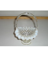 Vintage Fenton French Opalescent Hobnail Basket... - $30.00