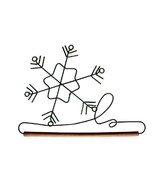 Snowflake Wire Hanger 12