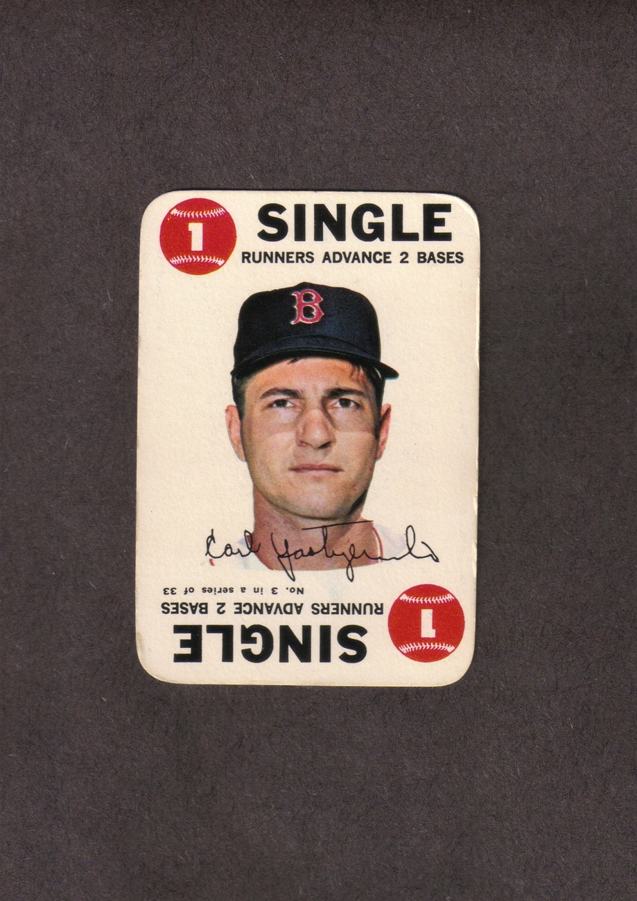 1968 Topps Game # 3 Carl Yaz Yastrzemski Boston Red Sox