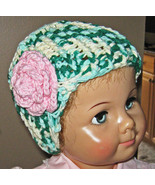Childs Hat 2T to 4T crochet Hat with flower - $9.00
