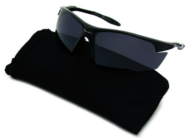 Super Dark Lens Sunglasses Designer Outdoor Wrap Cool Shades - X-LOOP 3577 BLACK