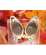 Vintage Brown Thermoset Clip Earrings - $4.99