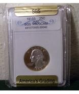 1995 Silver Quarter SGS Graded PR70 PR-70 - $89.99