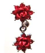 BJ20 Exquisite Double Titanium Rose Flower Reve... - $11.99