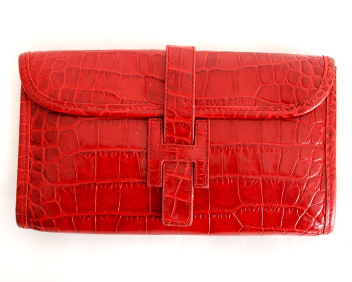 H Purse Red Croco
