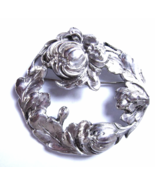 Victorian Sterling  Silver Brooch Hand Wrought ... - $69.00
