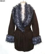 Romeo & Juliet Couture Sz Lg Faux Fur Trim Brow... - $22.99