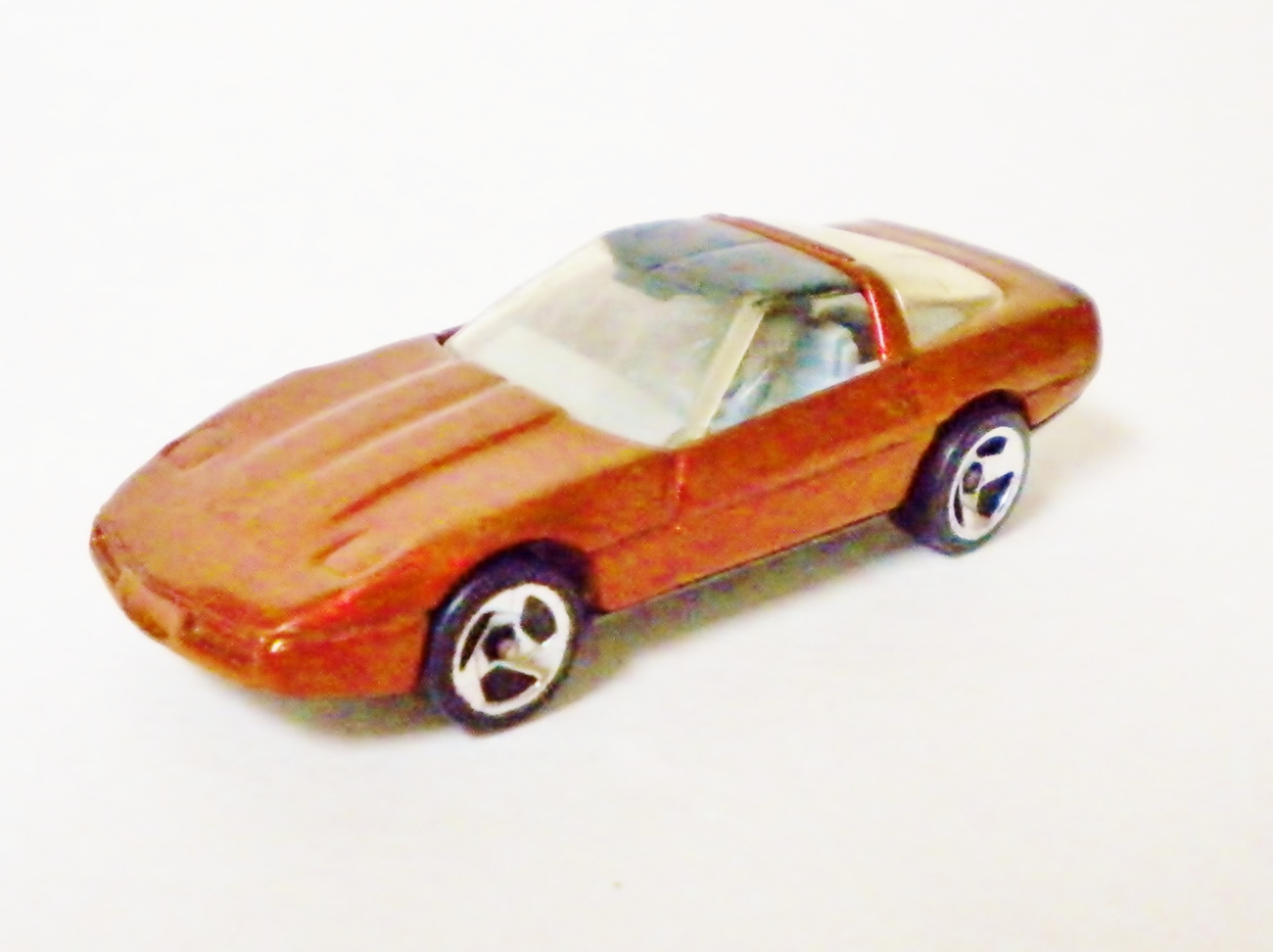 Hot Wheels - 1996 80's Corvette - Dark Metallic Red - Loose