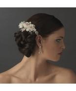 Elegant Ivory Rum Rose Bridal Wedding Hair Comb - $54.99