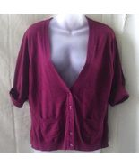 Cleo burgundy v-neck short-sleeved rayon medium... - $15.00