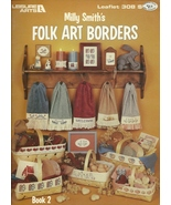 Folk Art Borders Counted Cross Stitch Pattern L... - $2.93