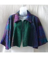 New yak hair short cape in green, purple, blue ... - $20.00