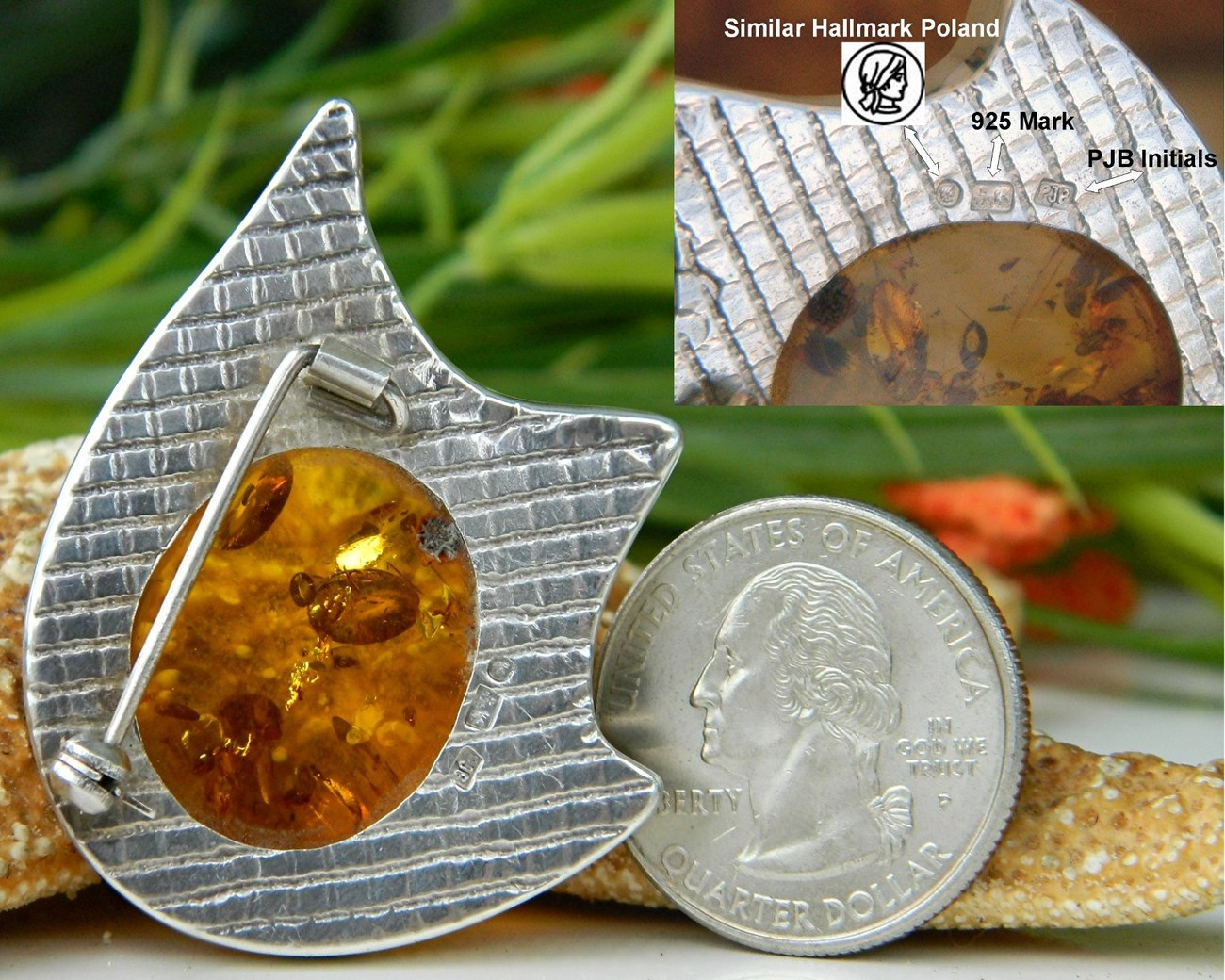 Amber_modernist_brooch_pin_sterling_silver_poland