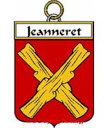 JEANNERET French Coat of Arms Print JEANNERET F... - $25.00