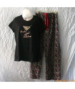 Sex and the City black, white & red pajamas, Si... - $15.00