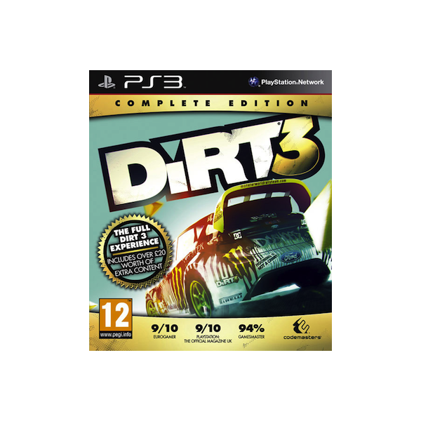 Dirt 3 Complete Edition, PS3 game