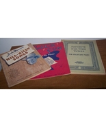 3 Vintage Music Books One Hill Billy Songs  Plu... - $10.00