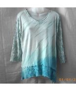 New XL cotton green and blue Glima long-sleeved... - $20.00
