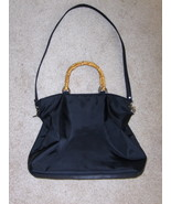 Evan Picone Satchel Black Shoulder Purse Handba... - $14.97