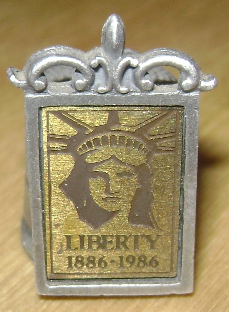 Statue of Liberty 100 Anniversary Pewter Thimble Made in 1984