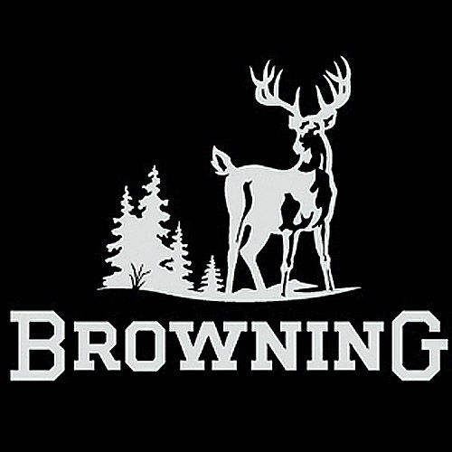 Browning Truck Window Decal White 12 inch Hunters Deer Buck - Graphics ...