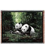 70x53 PANDA BEAR Wildlife Tapestry Throw Blanke... - $49.95