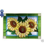 20x14 Stained Art Glass SUNFLOWER Window Panel ... - $62.00